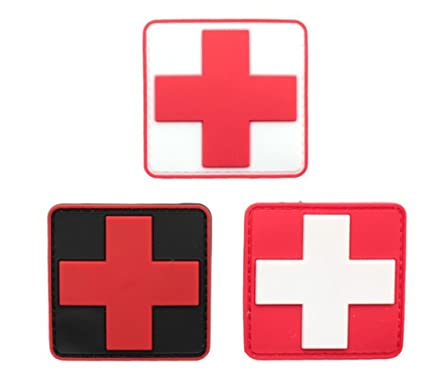 Amazon.com  OSdream Bundle 3 pieces - Medic Red Cross Tactical PVC ... 543da23f638
