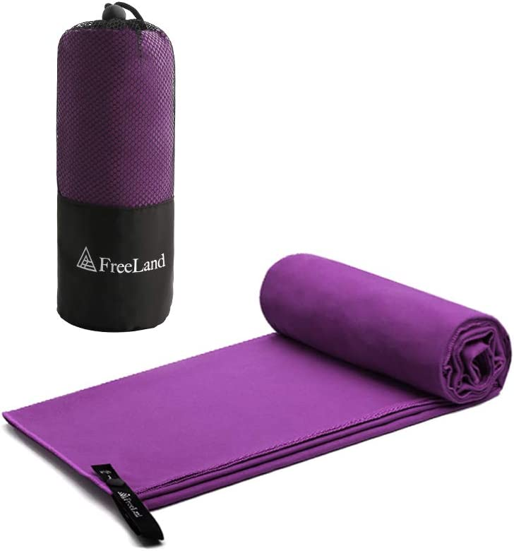FreeLand Microfiber Towel Quick Dry Super Absorbent for Travel Camping Sports