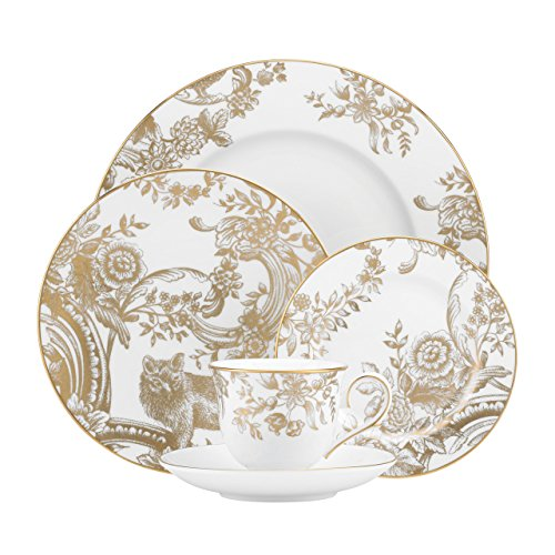 Lenox Marchesa Gilded Forest 5 Piece Place Setting, White -  845914