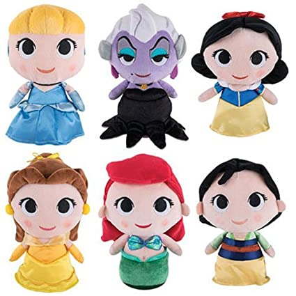458df722d72 Amazon.com  Funko SuperCute Plushies - Disney Princesses Series 1 (Set of  6)  Toys   Games