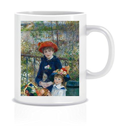 Two Sisters On The Terrace #2 (Renoir) Coffee Tea White Ceramic Mug Cup 11oz (On The Renoir Terrace)