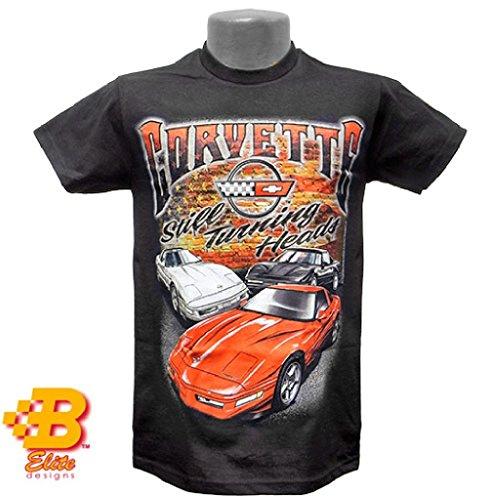 Brickels C4 Corvette Still Turning Heads T-Shirt Black - Large