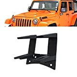Windshield A-pillar Lower Corner Hinge Mount Dual Mounting Brackets For Off Road Spot LED Work Lights 4 Inch Pods Cube Fog Lights On 2007-2013 Jeep Wrangler JK JKU