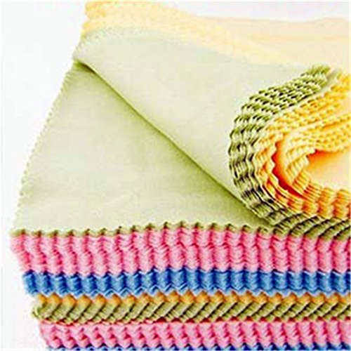Microfiber Clean Glasses Lens Cloth Wipes For Eyeglass Cleaning Multicolor 100Pcs
