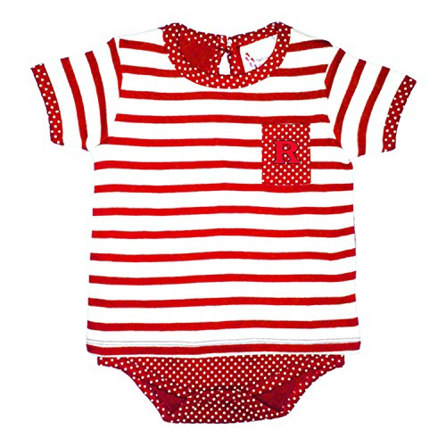 fan products of Rutgers Scarlet Knights NCAA Newborn Baby Rugby Pin Dot T-Shirt Creeper (6 Months)