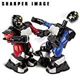 robots boxing - SHARPER IMAGE Remote Control Toy Boxing Battle Robots, Deliver Punches & Jabs in Fights, Dual Wireless Controllers W/ Radio Technology, Multi-Direction Movement, Battery Operated, BLUE/RED