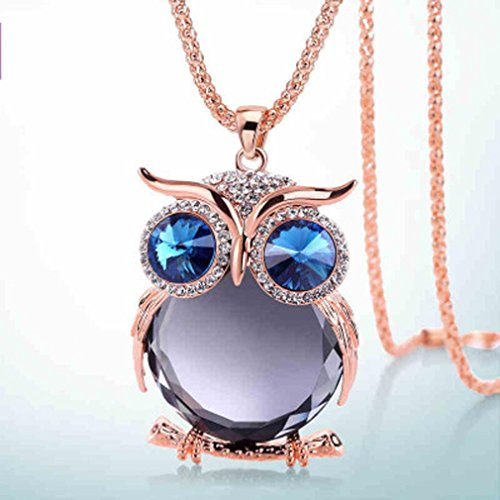 iLH® Clearance Deals Owl Pendant Necklace Women Vintage Glass Cabochon Necklace Jewelry by ZYooh - Glasses Dollar 18