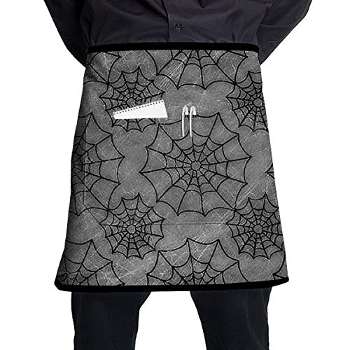 ZZJIAK Halloween Spider Web Apron with Pockets Locked£¨21.2