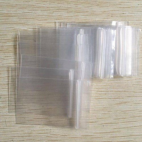 100pcs Thick Transparent Small Zip Lock Plastic Bags,Reclosable Plastic Poly Bag Jewelry Packaging Bags