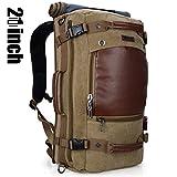 Doleesune Witzman Men's Vintage Duffel Bags for Men Canvas Shoulder Outdoor Travel Backpack A2021 (21 inch Light green)