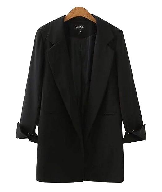 ... Negocios Oficina Fiesta Estilo Sudadera Blazer Ligeros Fashion Relaxed Casual Color Sólido Americana Chaqueta Abrigos Niña: Amazon.es: Ropa y accesorios
