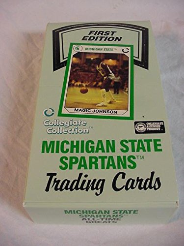 1990-91-Michigan-State-Spartans-Collegiate-Collection-Wax-Box-with-36-Packs-of-8-cards-each-with-6-Earvin-Magic-Johnson-Rookie-RC-Sealed