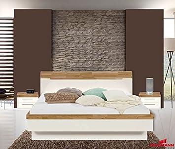Arte M Schlafzimmer komplett 3-teilig 346142 weiß / eiche massiv ...