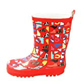 RED Printing Toddler Rain Shoes Baby Rain Boot Rainy Day Wear Rubber Shoes