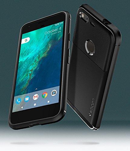 Spigen Rugged Armor Google Pixel Case with Resilient Shock Absorption and Carbon Fiber Design for Google Pixel 2016