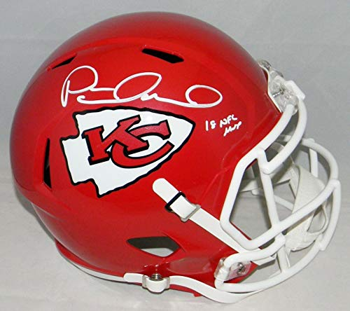 (Signed Patrick Mahomes Helmet - Full Size Speed W 18 Mvp - Autographed NFL)