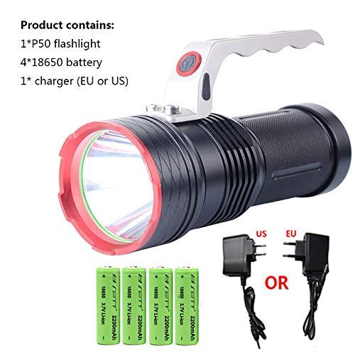 Camping lumière led torche Cree xhp50 charge directe 4  18650 batterie rechargeable LED lampe de poche rechargeable lanternes portables XLLF (Wattage   18650 battery mode)