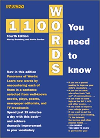 Amazon com: 1100 Words You Need to Know (9780764113659