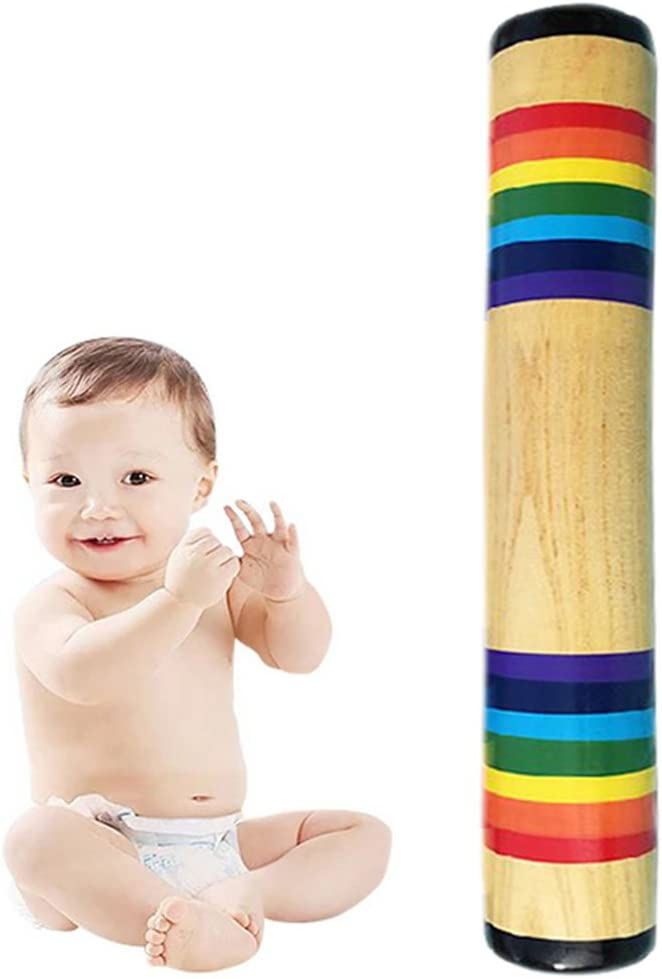 Wooden Rainstick Rainmaker Toy for Babies Musical Instrument for Kids and Toddlers