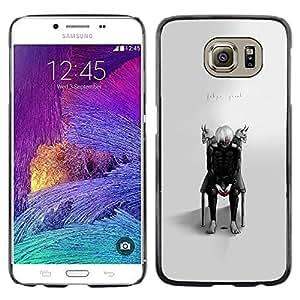 LECELL--Funda protectora / Cubierta / Piel For Samsung Galaxy S6 -- Tokio Ghost --