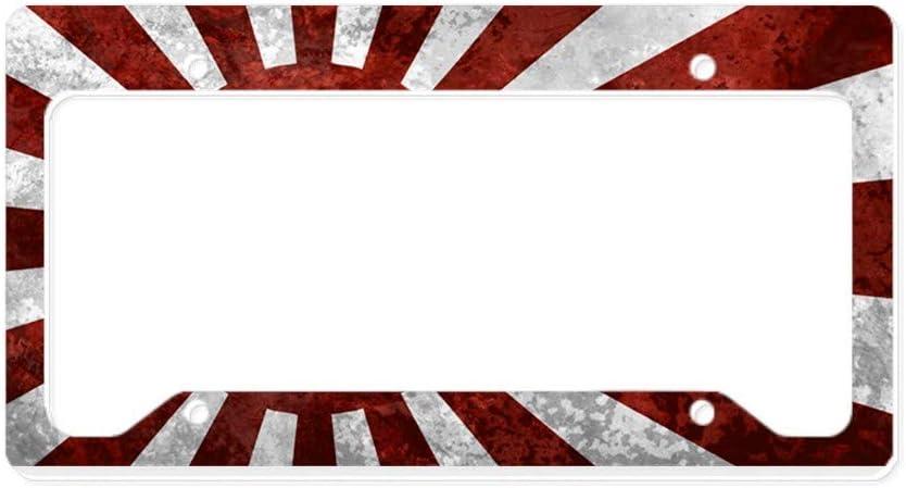 Cafepress Japanische Rising Sun Flagge Aluminium Nummernschild Rahmen Lizenz Tag Halter Auto