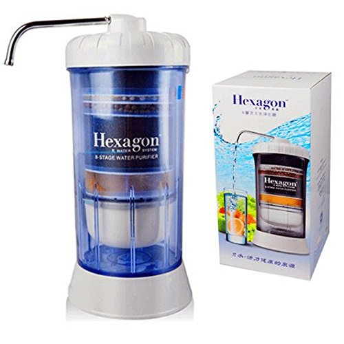Hexagon™ 8 Stage Water Purifier Water System Filtration Healthy Water Household Portable 8 Stage Countertop