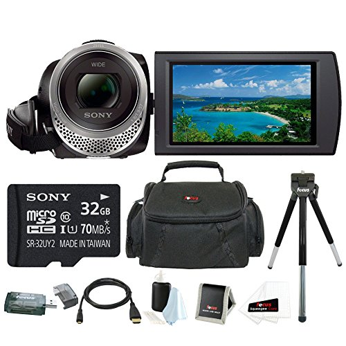 Sony HDR-CX455 Handycam Full HD 1080p Camcorder w/ 32GB Micro SD Card Bundle -  ASONHDRCX455BKK1