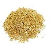 #1: 1000 Pcs Exquisite Small 19mm Gold Tone Metal Clothing Accessories Trimming Fastening Safety Pins (Golden)