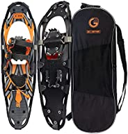 GO2GETHER 30 Inches Light Weight Snowshoes for Women Men Youth Kids, Set with Carrying Tote Bag,Special EVA Pa