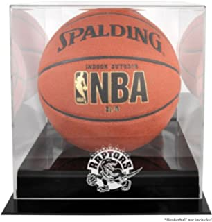 Lovely Utah Jazz Glass Basketball Display Case Logo On Court Background Sports Mem, Cards & Fan Shop Steiner