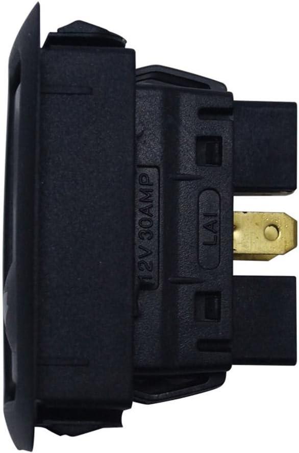 Forward tode Interruttore alzacristalli Elettrico Universale a 6 Pin 12V 24 V Verde Chiaro Confezione Singola