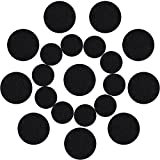 Arts & Crafts : Outus Black Adhesive Felt Circles for DIY and Sewing Handcraft, 1 Inch and 1.5 Inch, 100 Pieces