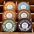 BEER SOAP 6-PACK - All Natural + Made in USA - Actually Smells Good! Perfect Craft Beer Gift Set for Beer Lovers, Guy Gift, Man Cave Gift, Drinking Gift