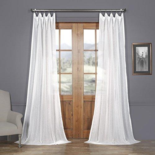 SHCH-5208-108 Patterned Linen Sheer Curtain, Bordeaux, 50 x - Patterned Linen