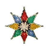 Northlight Lighted Multicolored Mosiac Style Star Christmas Tree Topper with Clear Lights, 7.75''