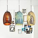 LightInTheBox Decoration Pendant, 1 Light, Tiffany Resin Glass Painting Processing, Modern Home Ceiling Light Fixture Flush Mount, Pendant Light Chandeliers Lighting, Home Color=Blue;Voltage=110-120V