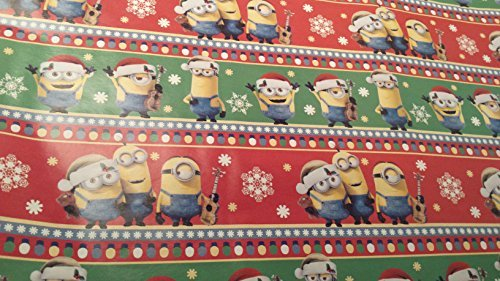Christmas Wrapping Despicable Me Minions Holiday Paper Gift Greetings 1 Roll Design Festive Wrap Red (Homemade Costume Minion)