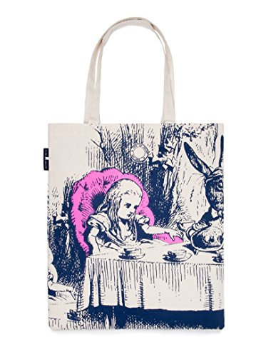 Out of Print Alice in Wonderland Tote Bag, 15 X 17 Inches