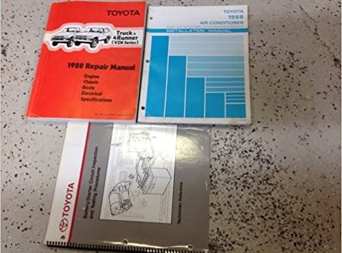 1988 Toyota Truck & 4Runner Service Shop Repair Workshop Manual Set W AC Book