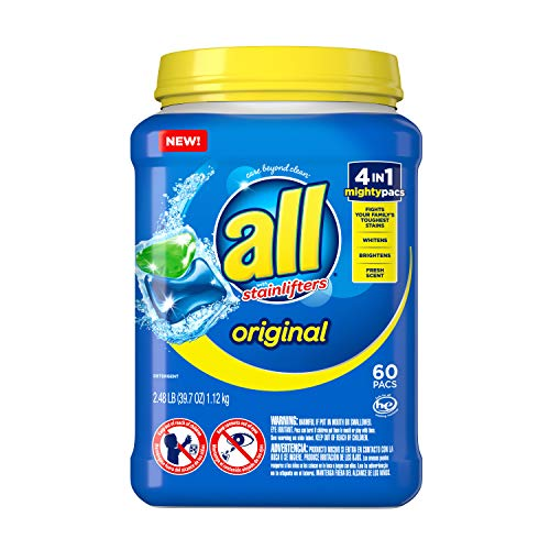 All Mighty Pacs Laundry Detergent 4 in 1 Stainlifter