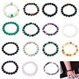 10mm Natural Semi Precious Stone Elastic Beaded Bracelet For 6.5 - 8 Inch Wrist Women