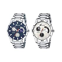 Rich Club Analogue Silver Blue Dial Men's Watches
