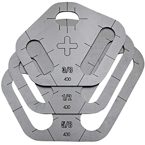 Plasma Stencil - Tri Slot Cutter Guide - 3 pc. Kit - .380