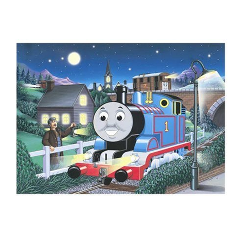 Thomas' Midnight Ride 100 pc glow in the dark puzzle by Ravensburger