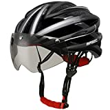 Base Camp Cycling Bike Helmet with Detachable Magnetic Visor Goggles Shield (Black)