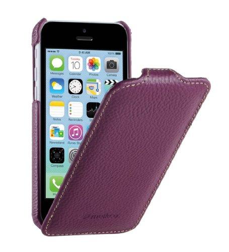 Melkco APIPONLCJT1PELC Jacka Type Premium Leder Case für Apple iPhone 5C purple
