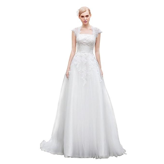 Dressilyme - Vestido de novia - Manga corta - Mujer Blanco Marfil 44