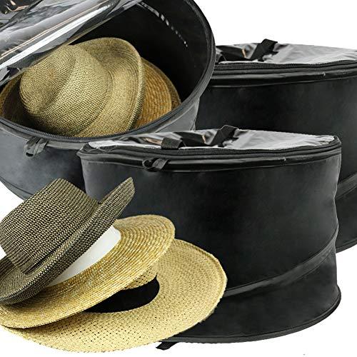 The Elixir Deco Premium Hat Pop-Up Bag [Dust Cover Organizer] Hat Stroage Travel Bag Round Hat Box, Set of (Deco Storage Box)