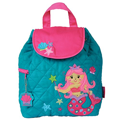Stephen Joseph Girls Quilted Mermaid Backpack with Activity Pad ()