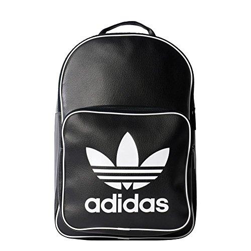adidas Bp Classic Mochila, Unisex Adulto, Verde Caqui (Caqlin), NS Negro (Negro)